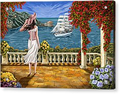 Acrylic Print featuring the painting Love Is Coming Home by Tim Gilliland