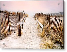 Love Is Everything - Footprints In The Sand Acrylic Print