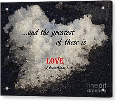 Love Is Great Acrylic Print