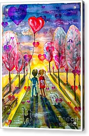 Love Is In The Air 2 Acrylic Print
