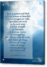 Love Is Patient - Sky Photo Acrylic Print