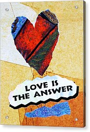 Love Is The Answer Collage Acrylic Print