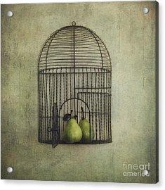 Love Is The Key Acrylic Print by Priska Wettstein