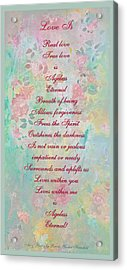 Love Is...2 Acrylic Print by Brooks Garten Hauschild