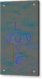 Love Joy Acrylic Print by Mary Grabill