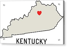 Love Kentucky State Acrylic Print by Chokkicx