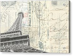 Love Letter From Paris Wide Acrylic Print by Edward Fielding