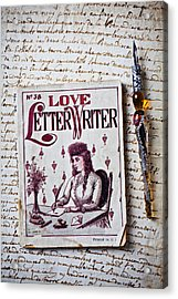 Love Letter Writer Book Acrylic Print by Garry Gay