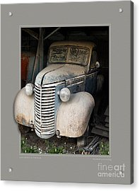 Love Letters In The Dust Acrylic Print by Rick Kelly