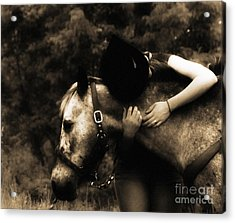 Love Like A Cowgirl Acrylic Print by Steven Digman