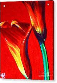 Love Lilies Acrylic Print