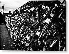 Acrylic Print featuring the photograph Love Locks by Ryan Wyckoff
