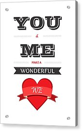 Love Lyrics Quotes Typography Quotes Poster Acrylic Print