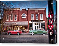 Love Main Street On Saturday Morning Acrylic Print by Williams-Cairns Photography LLC