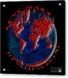 Love Makes The World Go Round 2 Acrylic Print by Andee Design