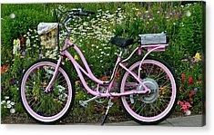 Love My Bike Acrylic Print by Barbara Dudley