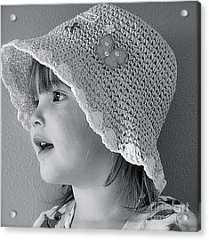 Acrylic Print featuring the photograph Love My Hat by Barbara Dudley