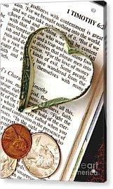 Love Of Money Acrylic Print