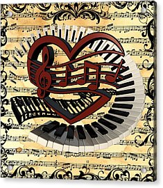 Love Of Music  Acrylic Print