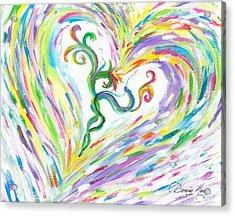 Love Of Parents Love Of Child Acrylic Print by Denise Hoag