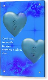 Acrylic Print featuring the digital art Love On Valentine's Day by Angel Jesus De la Fuente