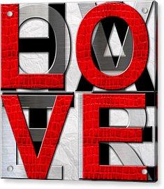 Love Over Hate Acrylic Print
