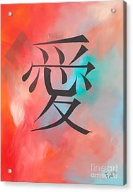 Love Acrylic Print by PainterArtist FIN