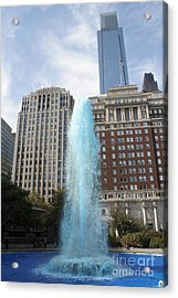 Love Park Acrylic Print by Christopher Woods