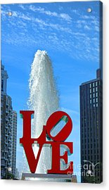 Love Park Acrylic Print by Olivier Le Queinec