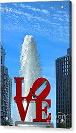Love Park Acrylic Print