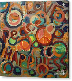 Love Peace Happiness Acrylic Print