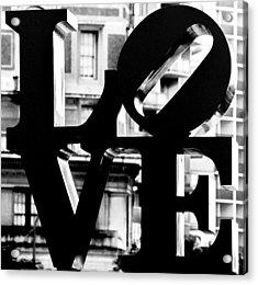 Love Philadelphia Black And White  Acrylic Print