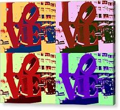 Acrylic Print featuring the digital art Love Pop Art II by J Anthony