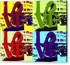 Acrylic Print featuring the digital art Love Pop Art by J Anthony