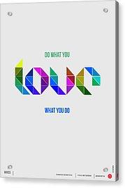 Love Poster 3 Acrylic Print