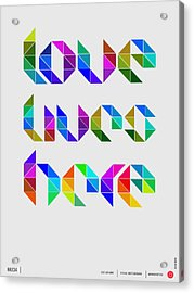Love Poster 4 Acrylic Print