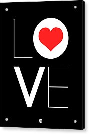 Love  Poster 7 Acrylic Print by Naxart Studio