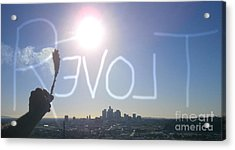 Love Revolt Acrylic Print by Drew Shourd
