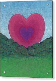 Love Rising Acrylic Print