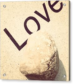 Love Rocks Acrylic Print