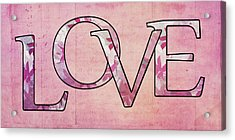 Love - S0102t Acrylic Print by Variance Collections