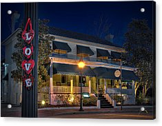 Acrylic Print featuring the photograph Love Smithfield Inn by Williams-Cairns Photography LLC