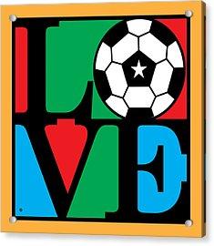 Love Soccer Acrylic Print by Gary Grayson