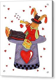 Love Somebunny Acrylic Print by Tracy Campbell