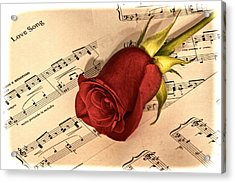 Love Song Acrylic Print by Zev Steinhardt
