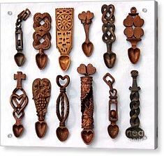 Love Spoons Acrylic Print