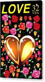 Love Stamp Acrylic Print