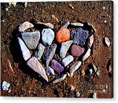 Love Stones Acrylic Print by Janice Westerberg