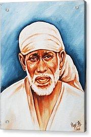 Acrylic Print featuring the painting Love Supreme-baba by Ragunath Venkatraman