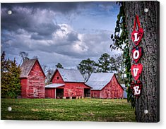 Love The Barns At Windsor Castle Acrylic Print by Williams-Cairns Photography LLC